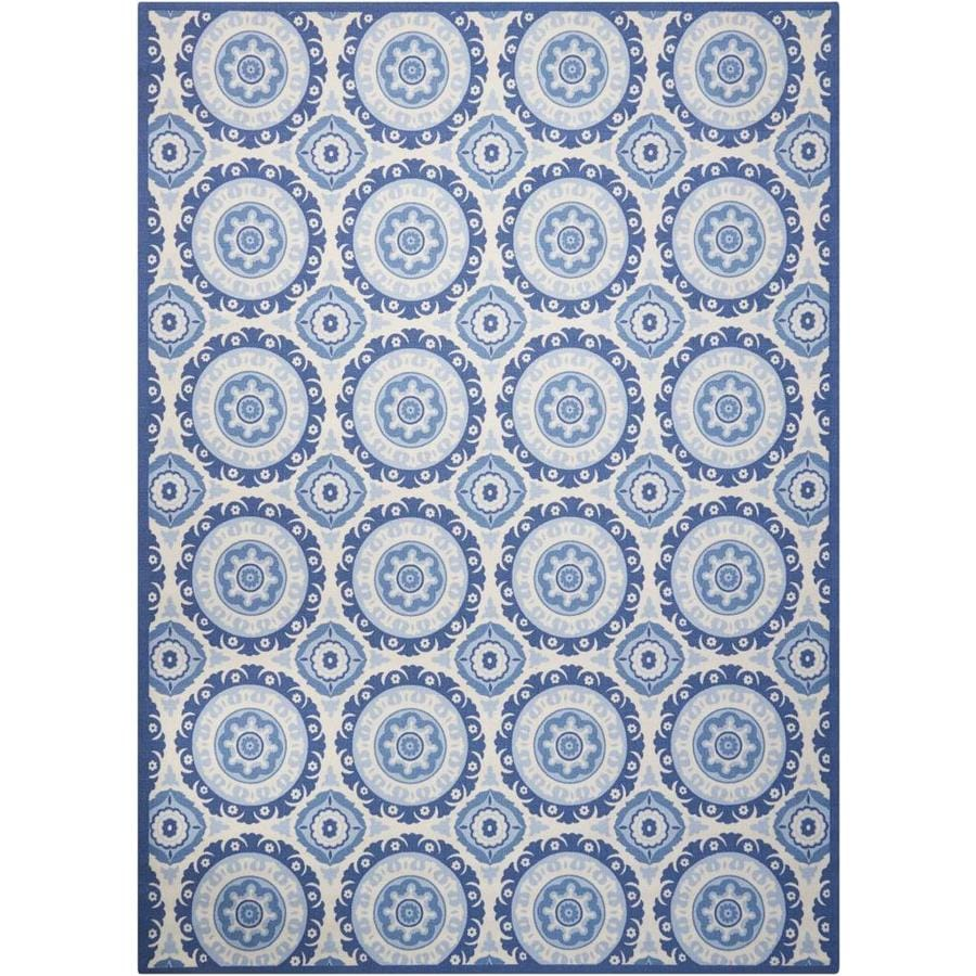 Nourison Waverly Sun And Shade Navy Indoor Outdoor Area Rug Common