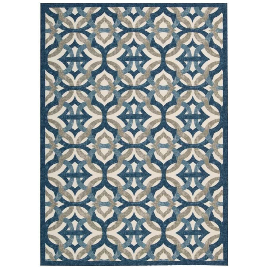 Nourison Wav01/Sun And Shade Celestial Area Rug (Common: 5 x 7; Actual: 5.25-ft W x 7.42-ft L)