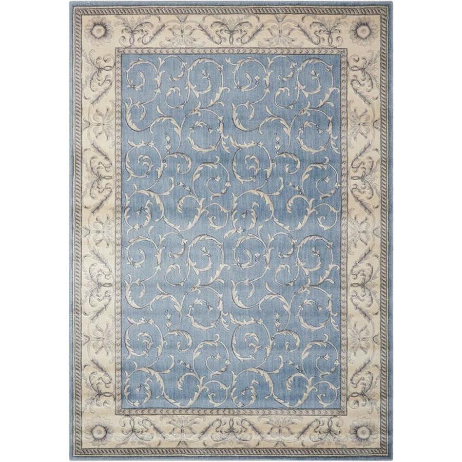 Nourison Somerset Light Blue Rectangular Indoor Area Rug (Common: 8 x 10; Actual: 7.75-ft W x 10.83-ft L x 0.5-ft dia)