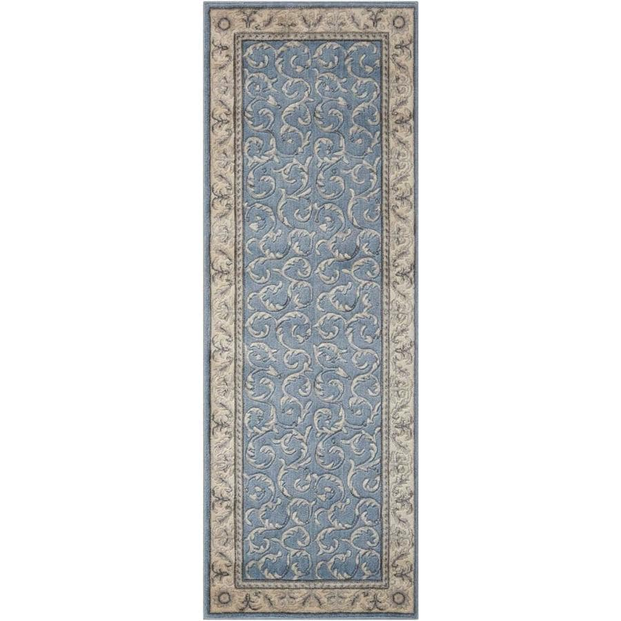 Nourison Somerset Light Blue Indoor Area Rug (Common: 2 x 7; Actual: 2.25-ft W x 8-ft L)