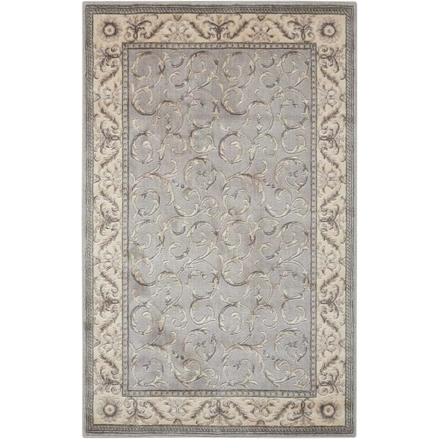 Nourison SOMERSET Silver  Indoor  Traditional Area Rug (Common: 3 x 5; Actual: 3-ft W x 5-ft L)