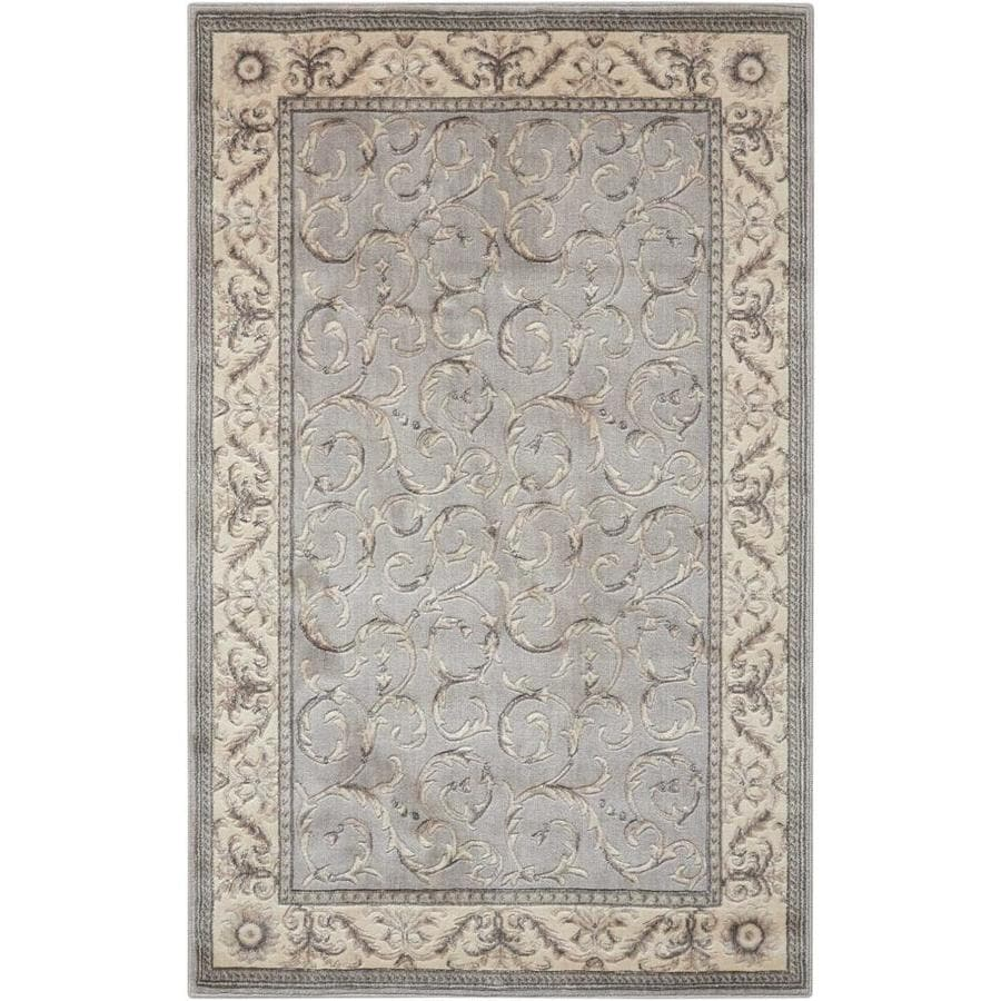 Nourison Somerset Silver Indoor Area Rug (Common: 2 x 3; Actual: 2-ft W x 2.75-ft L)