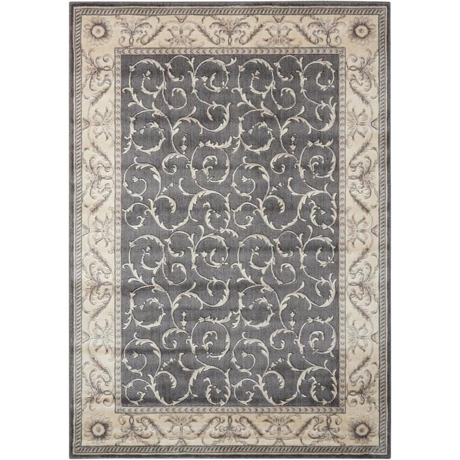 Nourison Somerset Charcoal Area Rug (Common: 2 x 3; Actual: 2-ft W x 2.75-ft L)