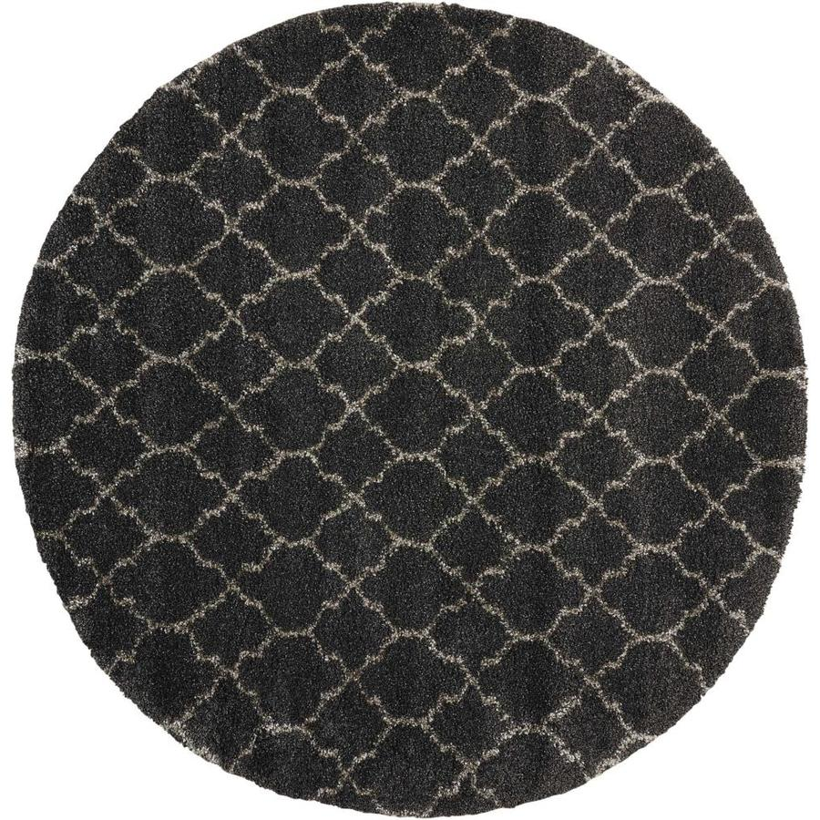 Nourison Amore Charcoal Round Indoor Area Rug