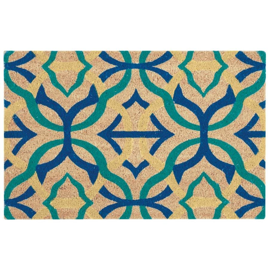 Nourison Greetings Aqua Area Rug At Lowes.com
