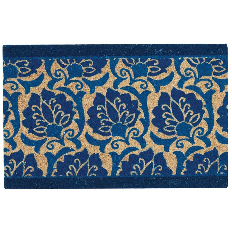 Nourison Blue Rectangular Door Mat