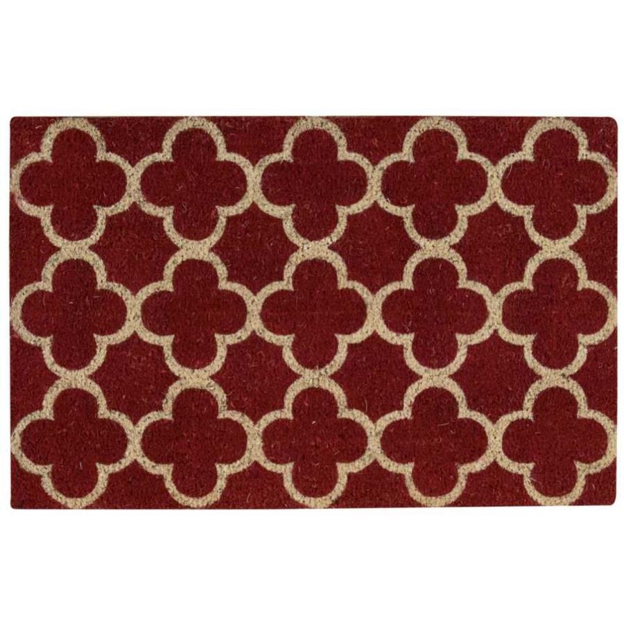 Nourison Red Rectangular Door Mat