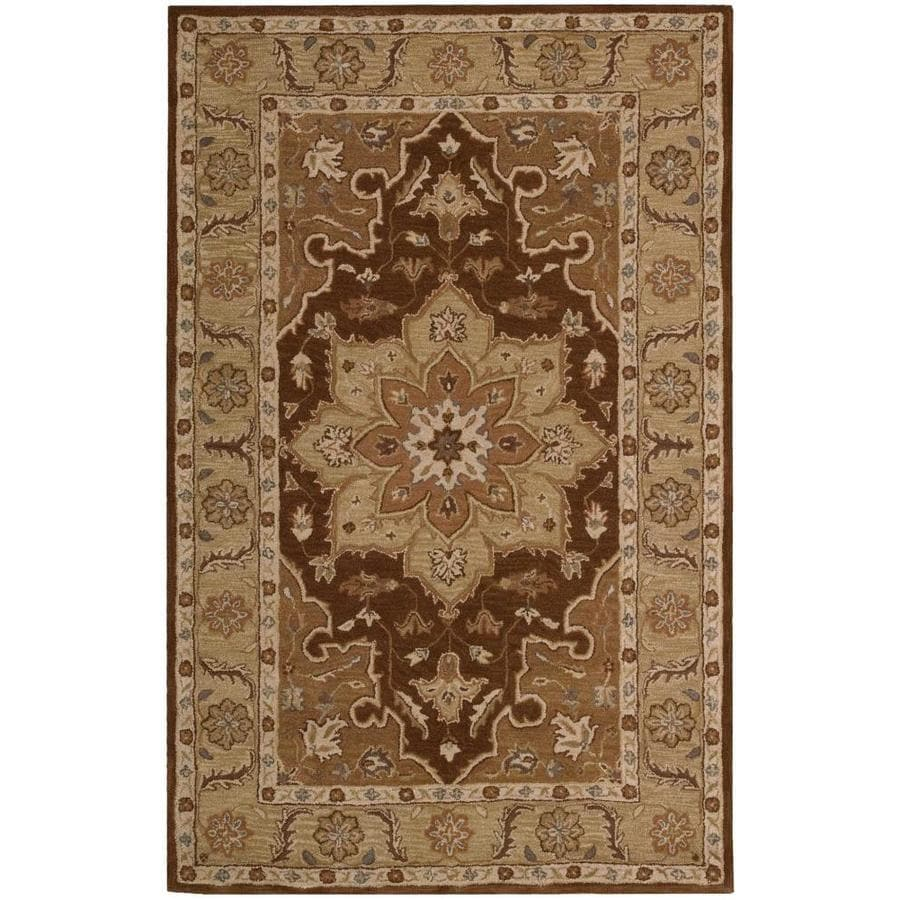 Nourison India House Chocolate Indoor Handcrafted Area Rug Common 2 X 3 Actual