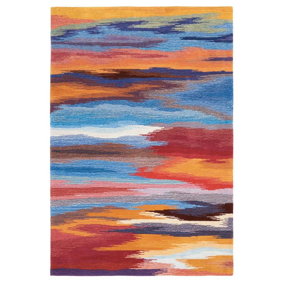 Nourison CONTOUR Sunset  Indoor Handcrafted Modern/Contemporary Area Rug (Common: 7 x 9; Actual: 7-ft W x 9-ft L)