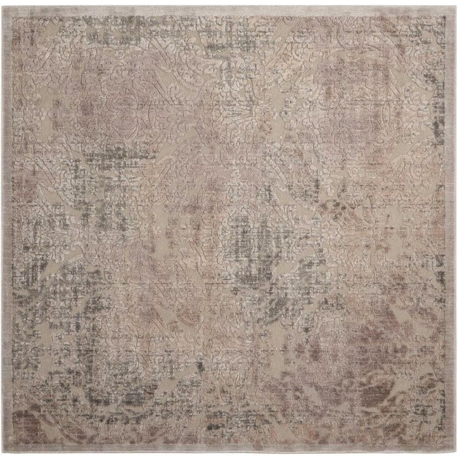 Nourison Graphic Illusions Gray Indoor Area Rug (Common: 7 x 7; Actual: 6.5833-ft W x 6.5833-ft L)