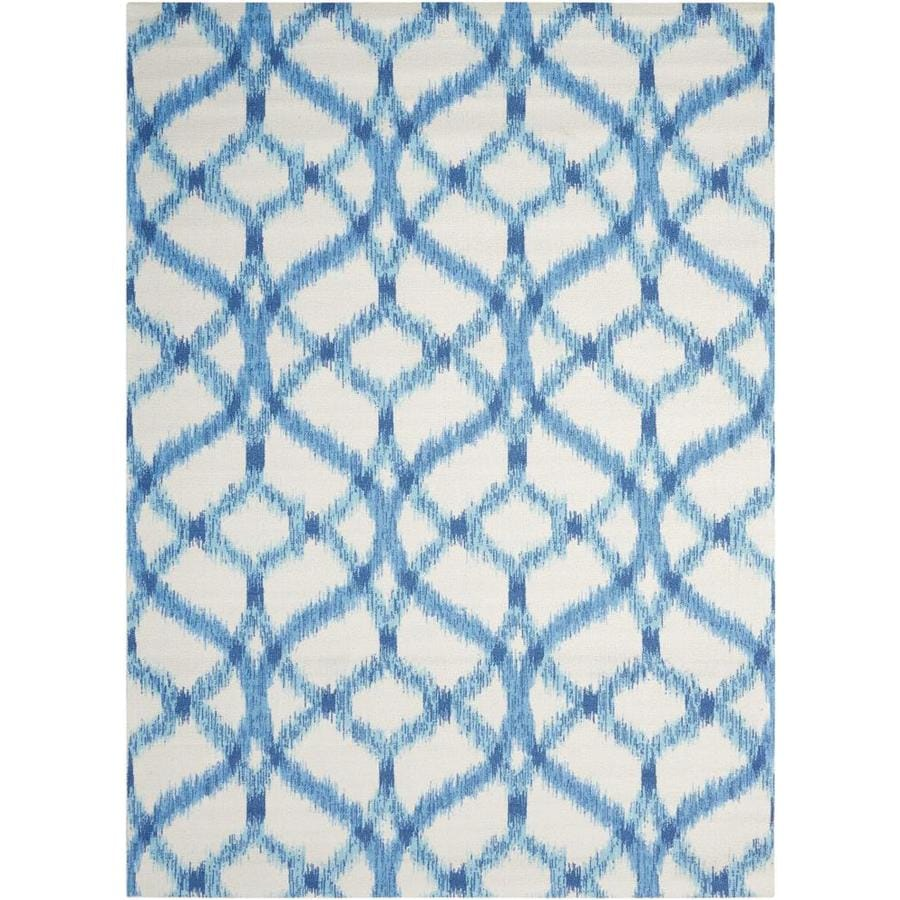 Nourison Wav01/Sun and Shade Aegean Rectangular Indoor/Outdoor Area Rug (Common: 5 x 5; Actual: 5.25-ft W x 5.25-ft L x 0.25-ft dia)
