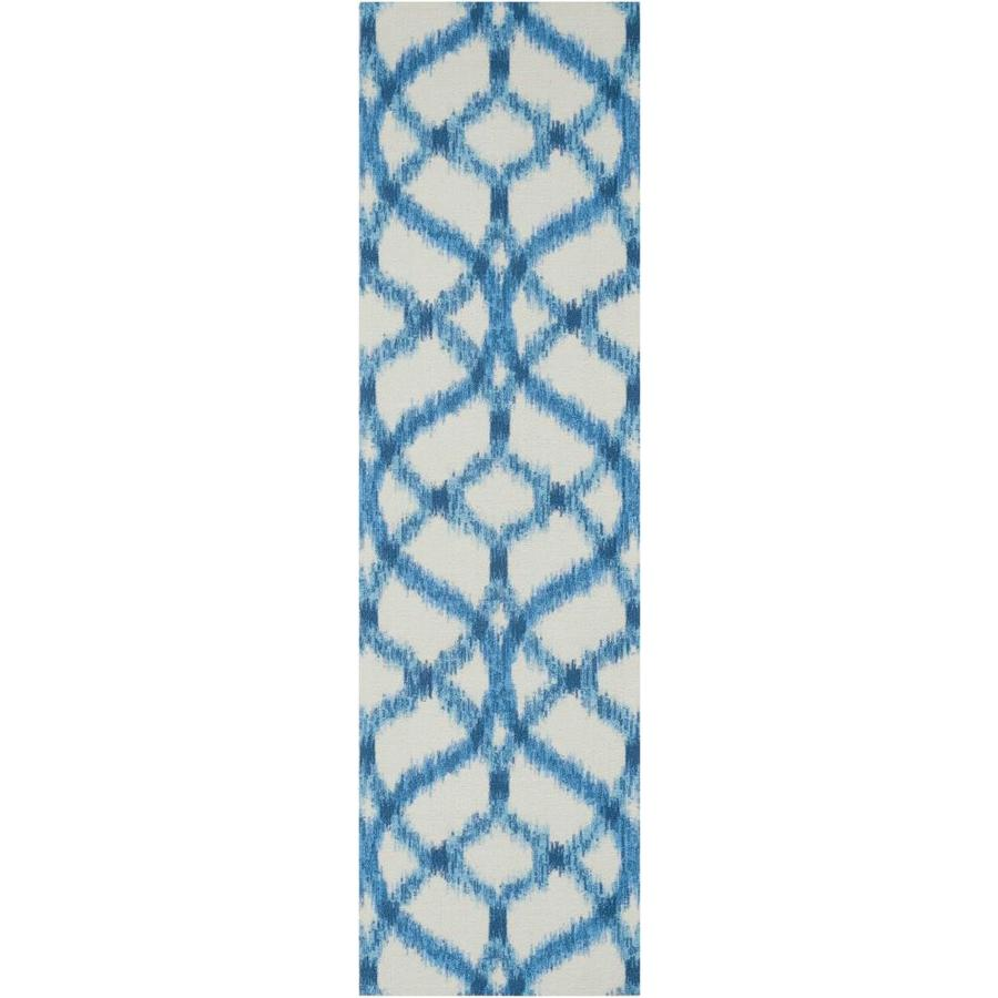 Nourison Wav01/Sun and Shade Aegean Rectangular Indoor/Outdoor Area Rug (Common: 2 x 7; Actual: 2.25-ft W x 8-ft L x 0.25-ft dia)