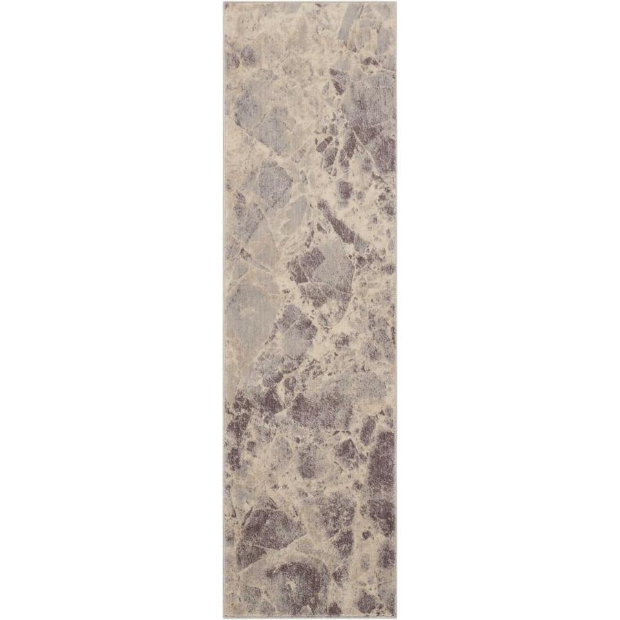 Nourison Somerset Gray Indoor Area Rug (Common: 2 x 7; Actual: 2.25-ft W x 8-ft L x 0.5-ft dia)