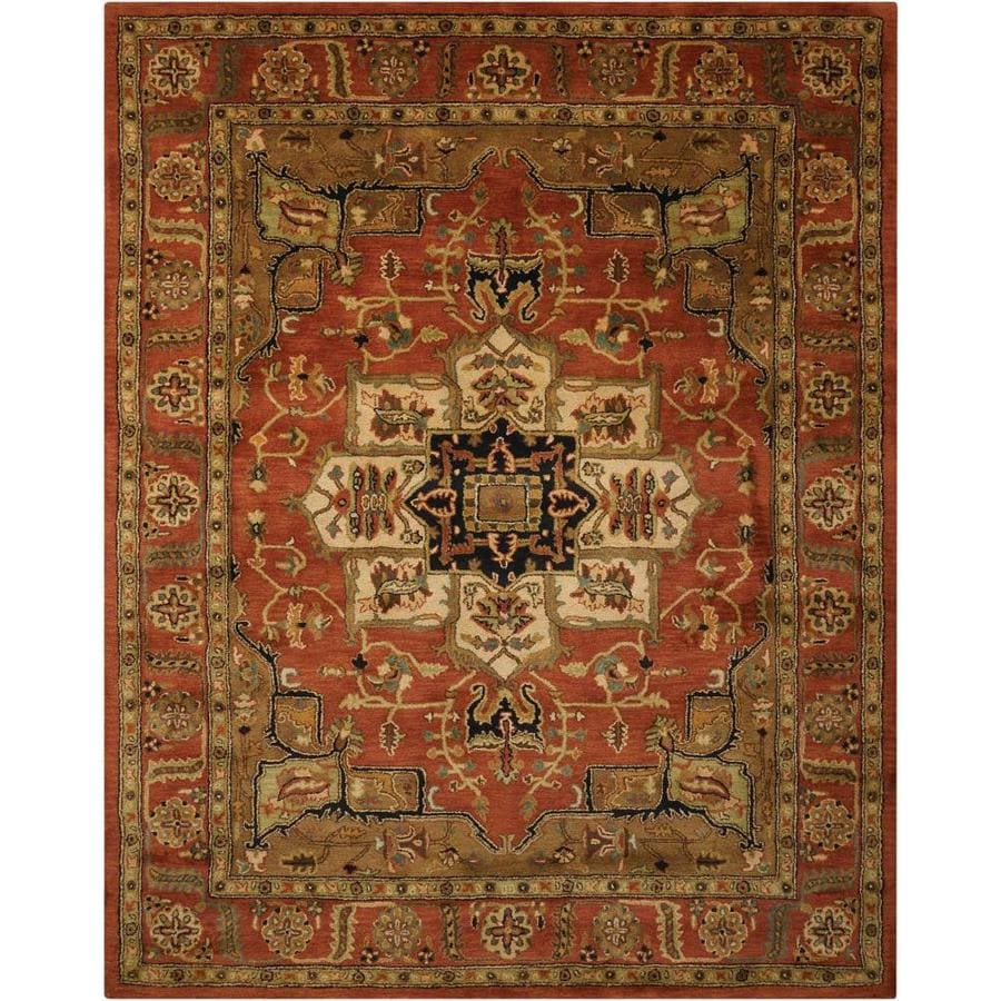 Nourison Jaipur Brick Indoor Handcrafted Area Rug (Common: 8 x 10; Actual: 7.75-ft W x 9.75-ft L)