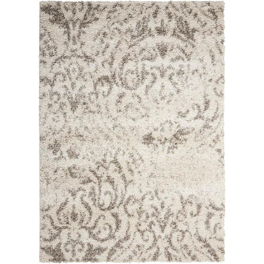 Nourison Brisbane Cream Area Rug (Common: 5 x 8; Actual: 5-ft W x 7-ft L)