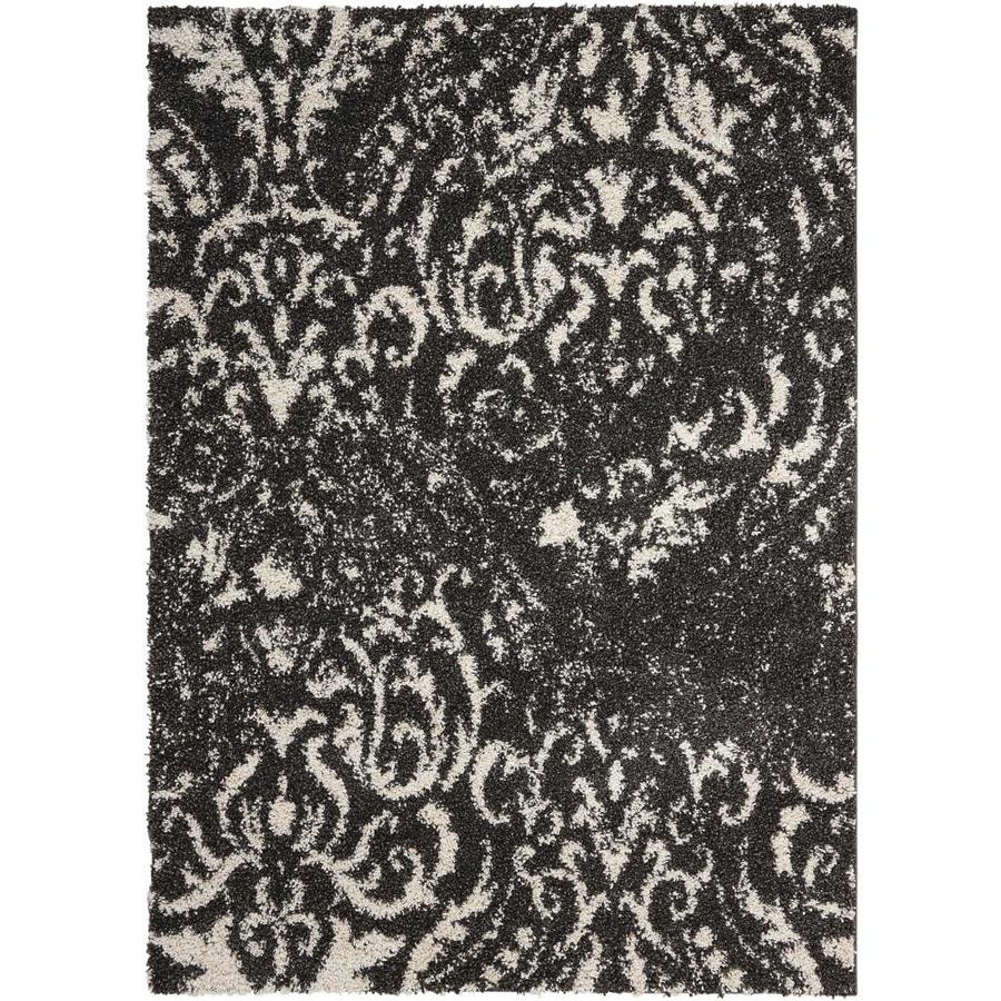 Rug Store Brisbane: Shop Nourison Brisbane Black/White Indoor Area Rug (Common