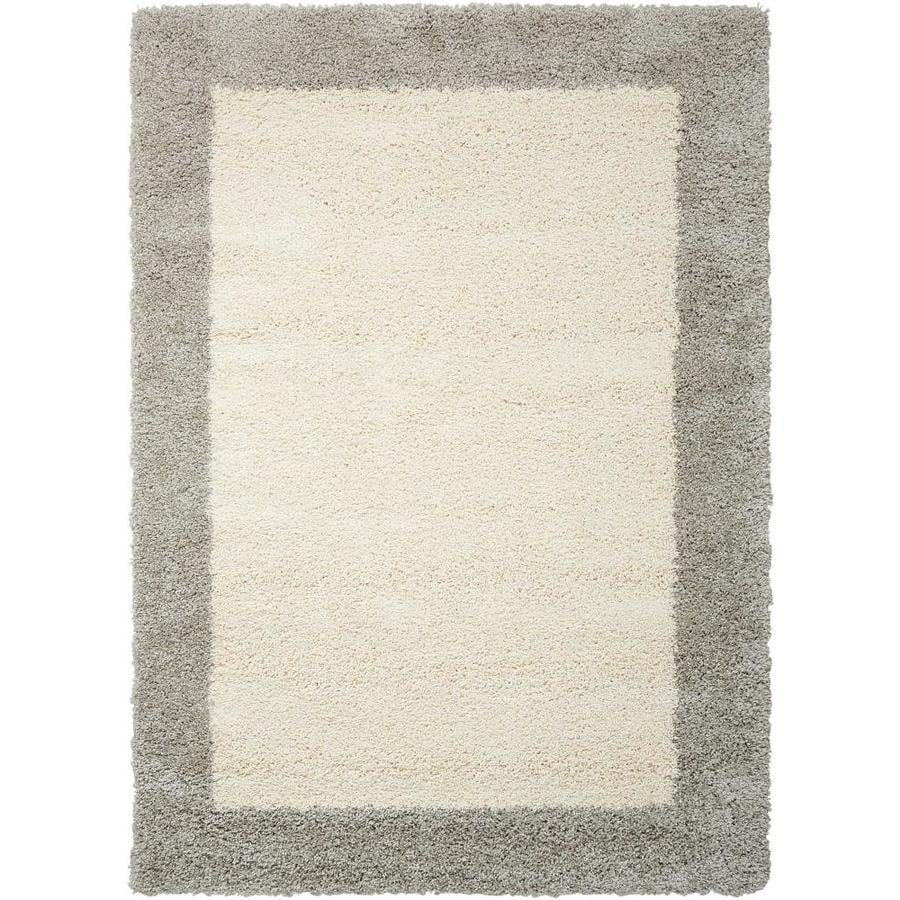 Nourison Amore Ivory/Silver Area Rug (Common: 8 x 10; Actual: 7.83-ft W x 10.83-ft L)