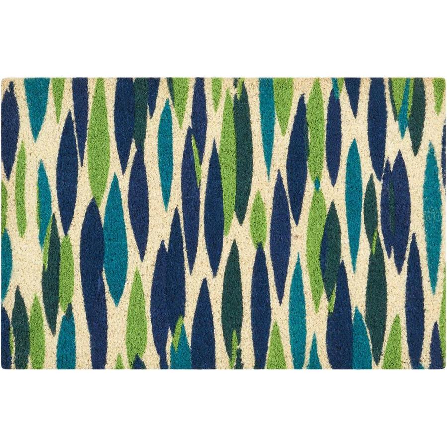 Nourison Blue Rectangular Door Mat