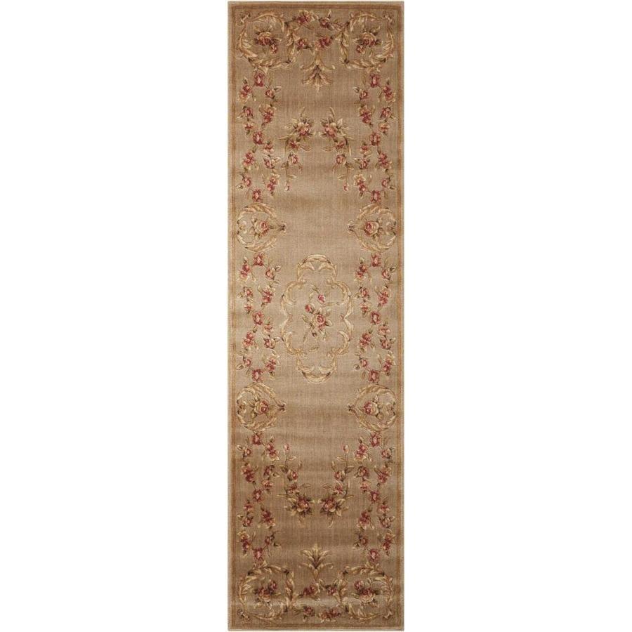 Nourison Somerset Mocha Rectangular Indoor Area Rug (Common: 2 x 6; Actual: 2-ft W x 5.75-ft L x 0.5-ft dia)