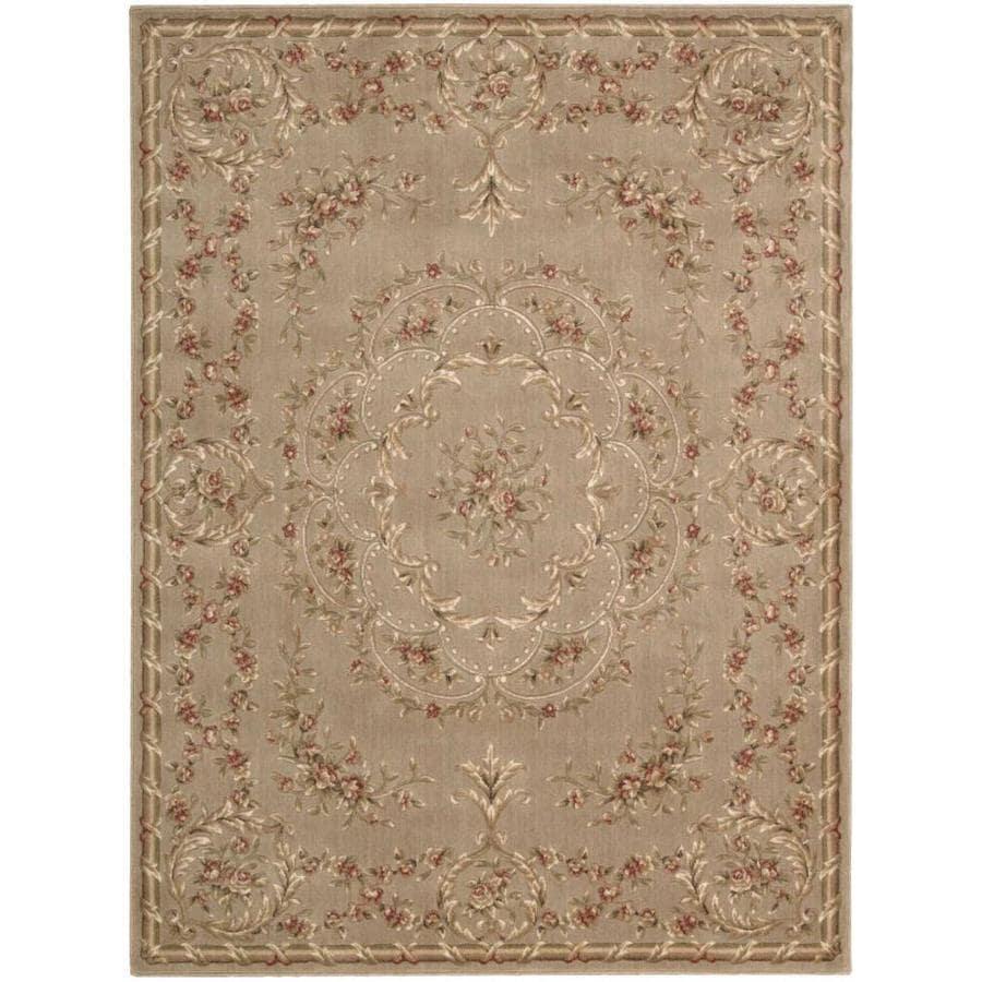 Nourison Somerset Mocha Rectangular Indoor Area Rug (Common: 5 x 7; Actual: 5.25-ft W x 7.42-ft L x 0.5-ft dia)