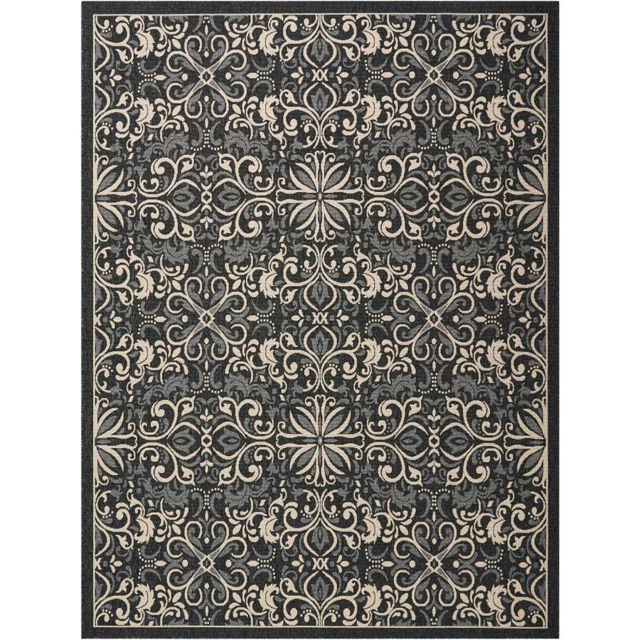 Nourison Caribbean Charcoal Indoor Outdoor Area Rug