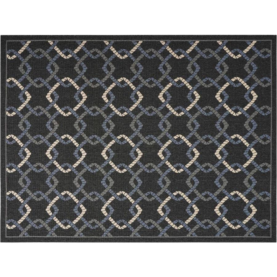 Outdoor Rug 7 X 10: Nourison Caribbean Charcoal Indoor/Outdoor Area Rug