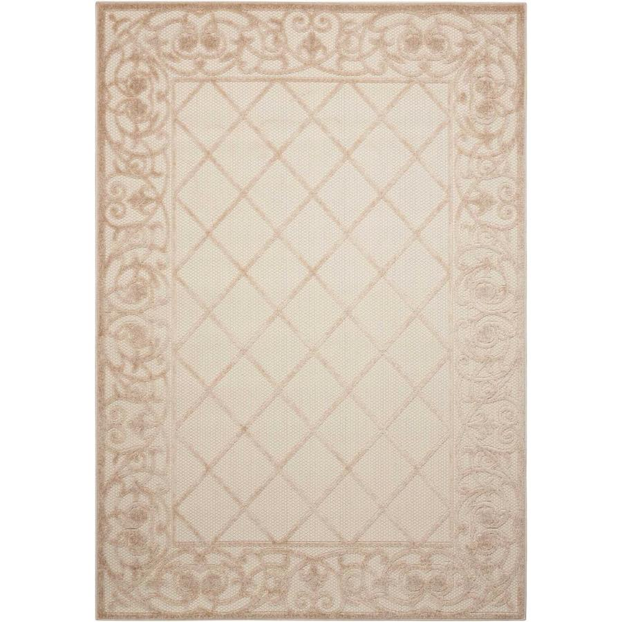 Nourison Aloha Cream Indoor Outdoor Area Rug Common 5 X