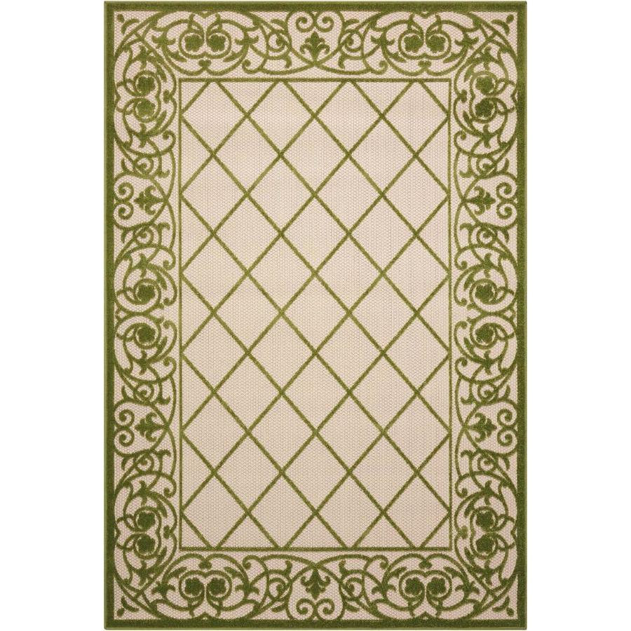 Nourison ALOHA Green  Indoor/Outdoor  Outdoor Area Rug (Common: 3 x 5; Actual: 3-ft W x 5-ft L)