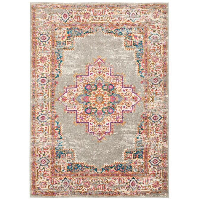 Nourison Passion 6 X 9 Grey Indoor Abstract Bohemian Eclectic Area Rug In The Rugs Department At Lowes Com