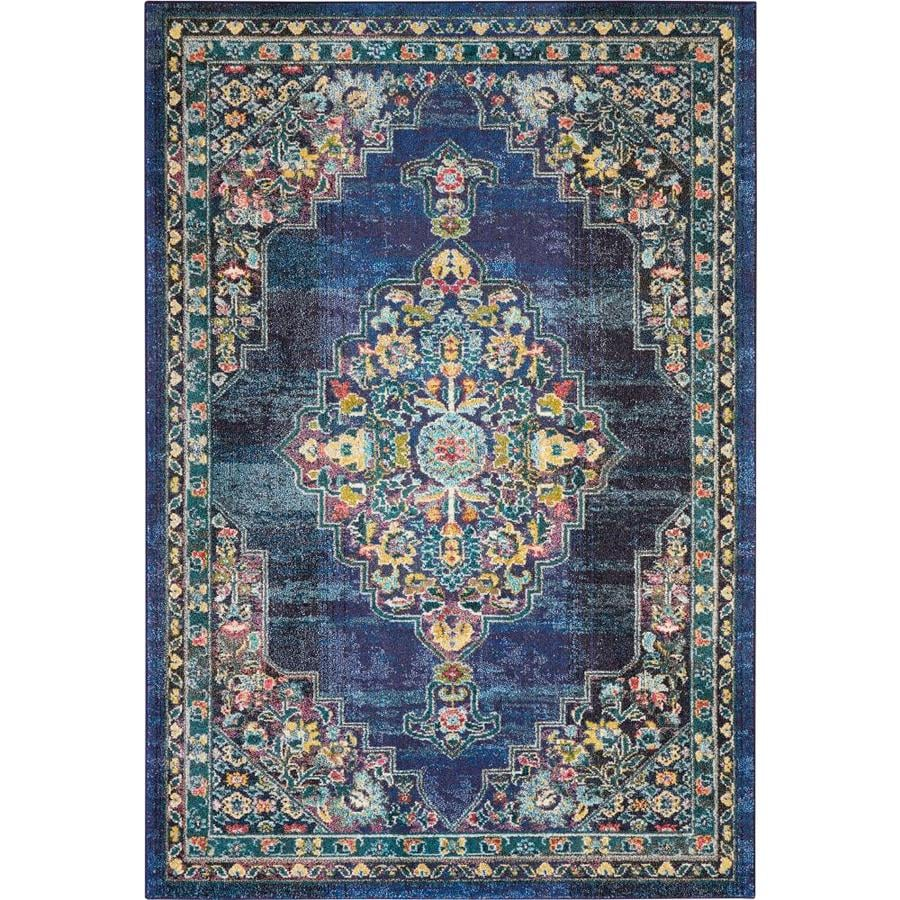 Nourison Passionate Navy Indoor Area Rug Common 8 X 10 Actual