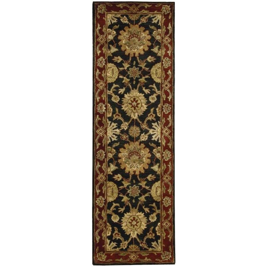Nourison Jaipur Black Rectangular Indoor Handcrafted Area Rug (Common: 2 x 8; Actual: 2.33-ft W x 8-ft L x 0.75-ft dia)