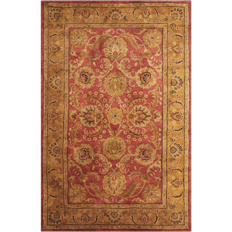 Nourison Jaipur Burgundy Handcrafted Area Rug (Common: 5 x 7; Actual: 5.5-ft W x 8.5-ft L)
