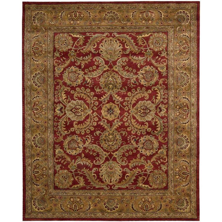 Nourison Jaipur Burgundy Rectangular Indoor Handcrafted Area Rug (Common: 8 x 11; Actual: 8.25-ft W x 11.5-ft L x 0.75-ft dia)