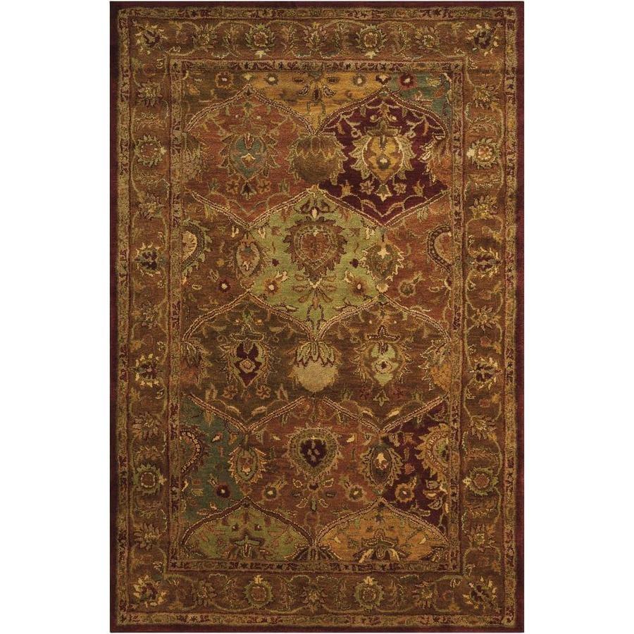 Nourison Jaipur Multicolor Rectangular Indoor Handcrafted Area Rug (Common: 3 x 5; Actual: 3.75-ft W x 5.75-ft L x 0.75-ft dia)