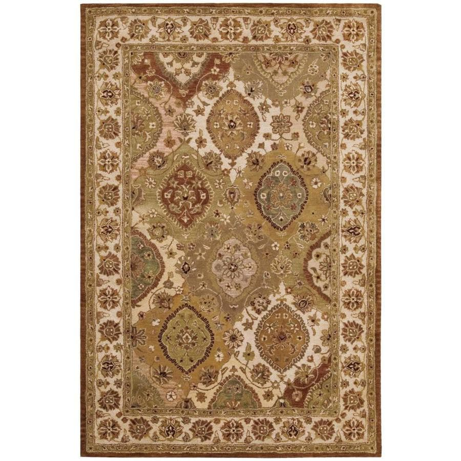 Nourison Jaipur Multicolor Indoor Handcrafted Area Rug (Common: 3 x 5; Actual: 3.75-ft W x 5.75-ft L x 0.75-ft dia)