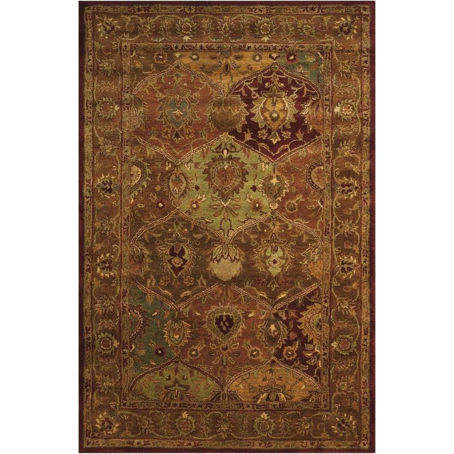 Nourison Jaipur Multicolor Rectangular Indoor Handcrafted Area Rug (Common: 5 x 7; Actual: 5.5-ft W x 8-ft L x 0.75-ft dia)