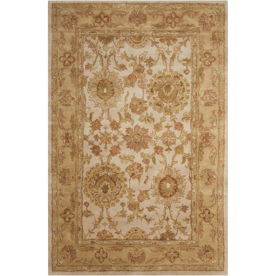 Nourison Jaipur Ivory Handcrafted Area Rug (Common: 5 x 7; Actual: 5.5-ft W x 8.5-ft L)