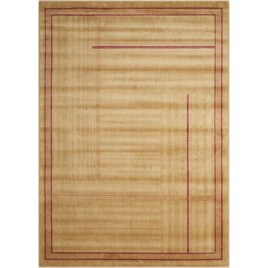 Nourison Somerset Gold Indoor Area Rug (Common: 2 x 3; Actual: 2-ft W x 2.75-ft L x 0.5-ft dia)