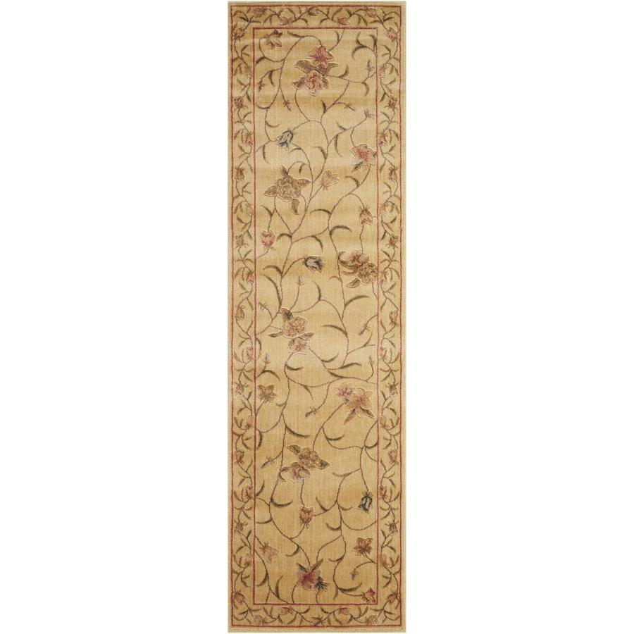 Nourison Somerset Ivory Indoor Area Rug (Common: 2 x 7; Actual: 2.25-ft W x 8-ft L x 0.5-ft dia)