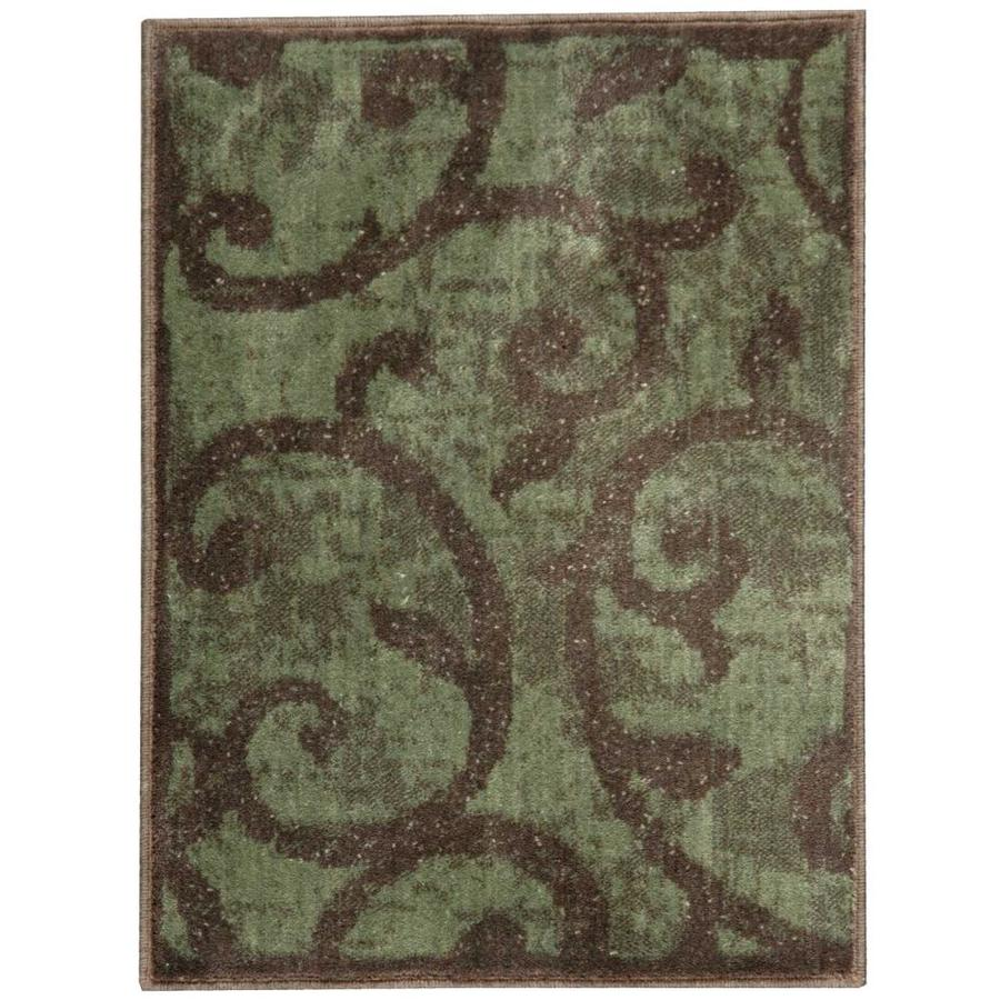 Nourison Expressions Brown Rectangular Indoor Area Rug (Common: 2 x 3; Actual: 2-ft W x 2.75-ft L x 0.5-ft dia)