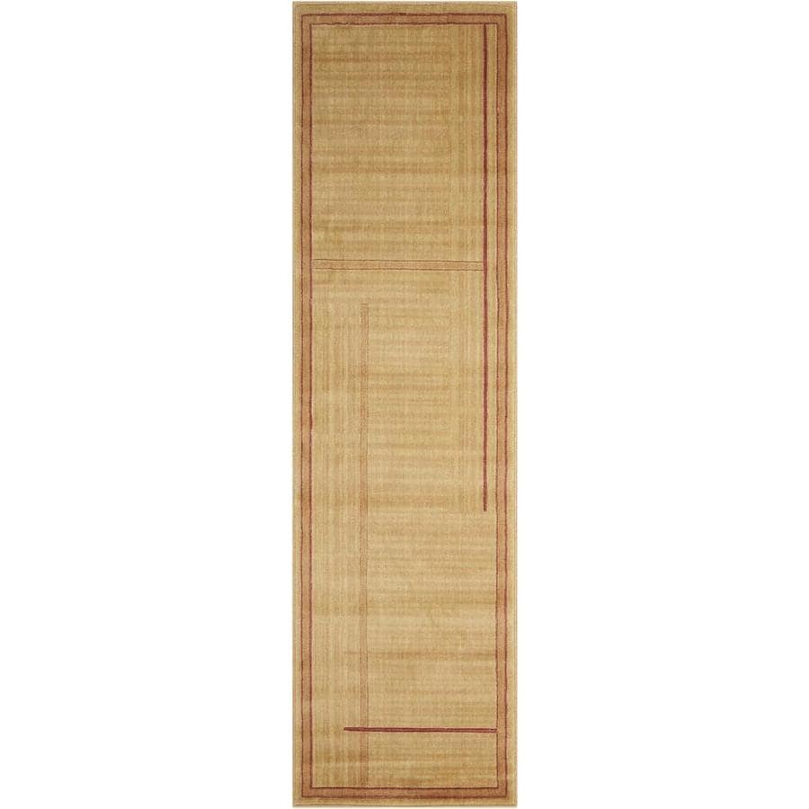 Nourison Somerset Gold Indoor Area Rug (Common: 2 x 7; Actual: 2.25-ft W x 8-ft L x 0.5-ft dia)