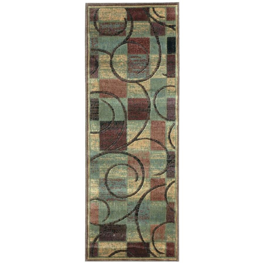 Nourison Expressions Brown Rectangular Indoor Area Rug (Common: 2 x 6; Actual: 2-ft W x 5.75-ft L x 0.5-ft dia)