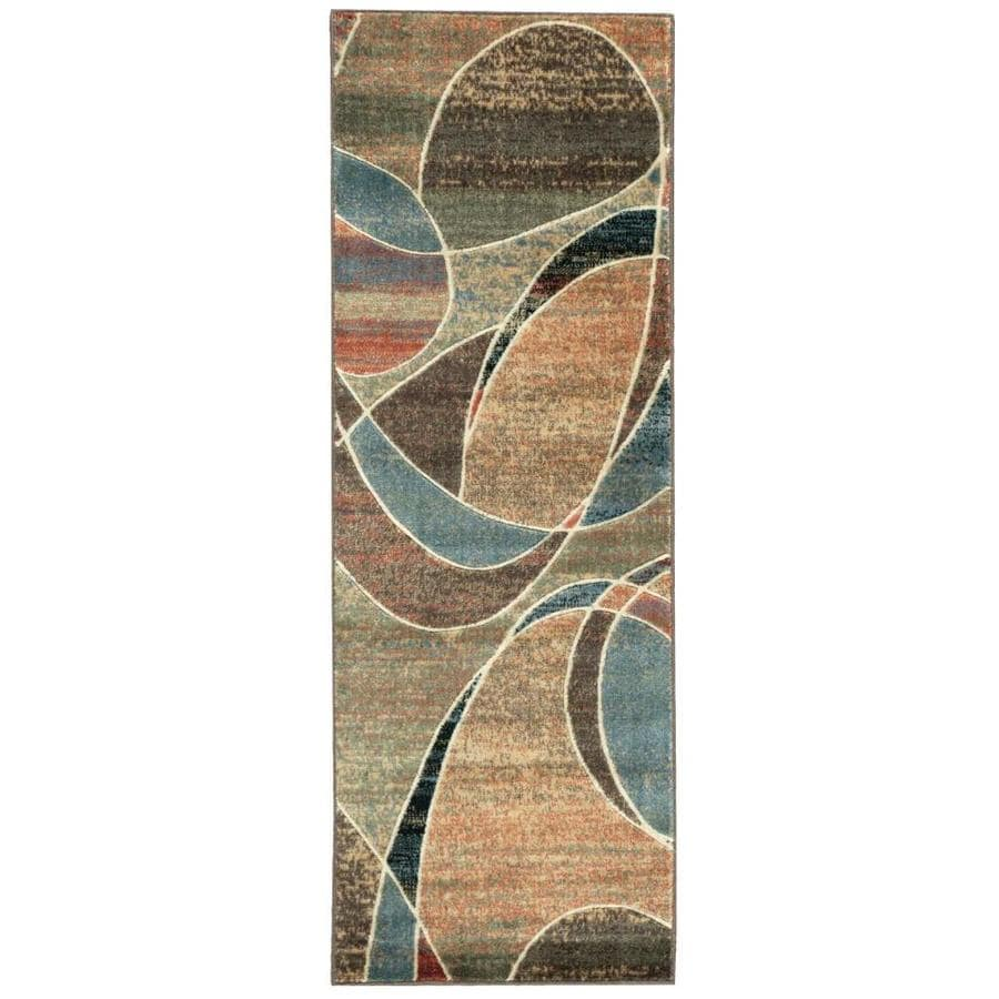 Nourison Expressions Multicolor Indoor Area Rug (Common: 2 x 6; Actual: 2-ft W x 5.75-ft L x 0.5-ft dia)
