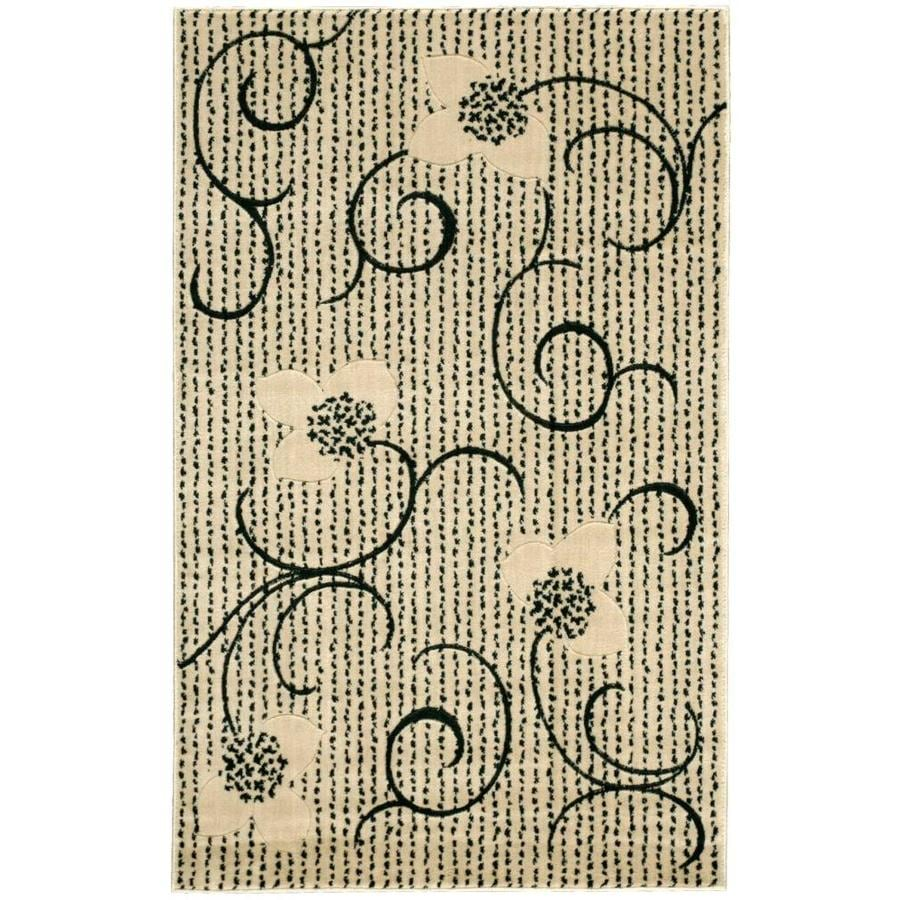 Nourison EXPRESSIONS Ivory Rectangular Indoor Machine Woven Modern/Contemporary Area Rug (Common: 3 x 5; Actual: 3-ft W x 5-ft L)