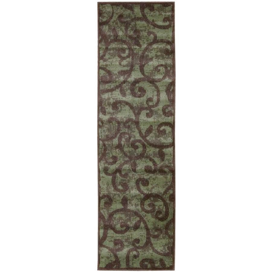 Nourison Expressions Brown Indoor Area Rug (Common: 2 x 7; Actual: 2.25-ft W x 8-ft L x 0.5-ft dia)