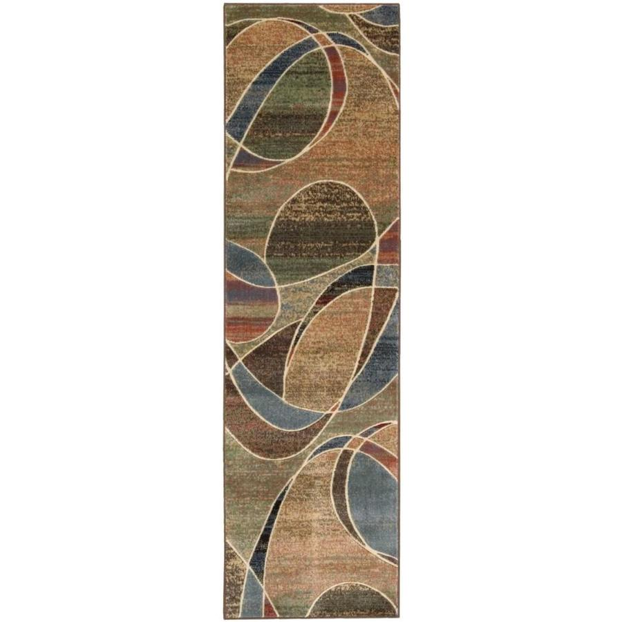Nourison Expressions Multicolor Indoor Area Rug (Common: 2 x 7; Actual: 2.25-ft W x 8-ft L x 0.5-ft dia)