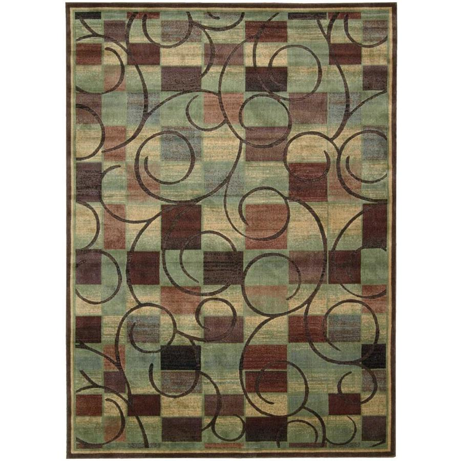 Nourison Expressions Brown Rectangular Indoor Area Rug (Common: 8 x 10; Actual: 7.75-ft W x 10.83-ft L x 0.5-ft dia)