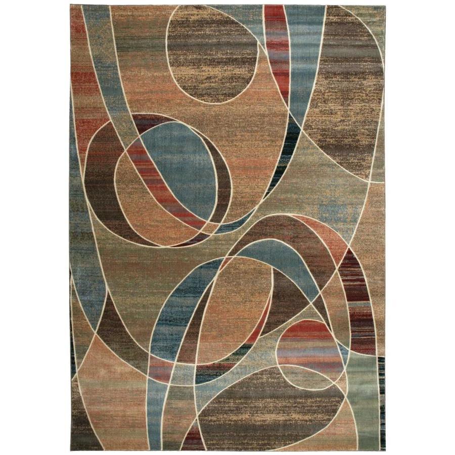 Nourison Expressions Multicolor Indoor Area Rug (Common: 9 x 13; Actual: 9.5-ft W x 13.5-ft L x 0.5-ft dia)