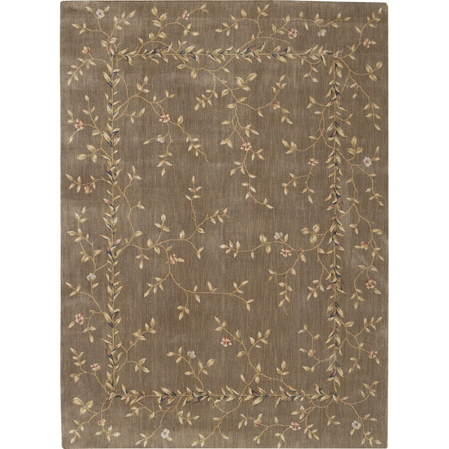 Nourison Cream Tufted Runner (Common: 5-ft x 8-ft; Actual: 7.416-ft x 5.5-ft)