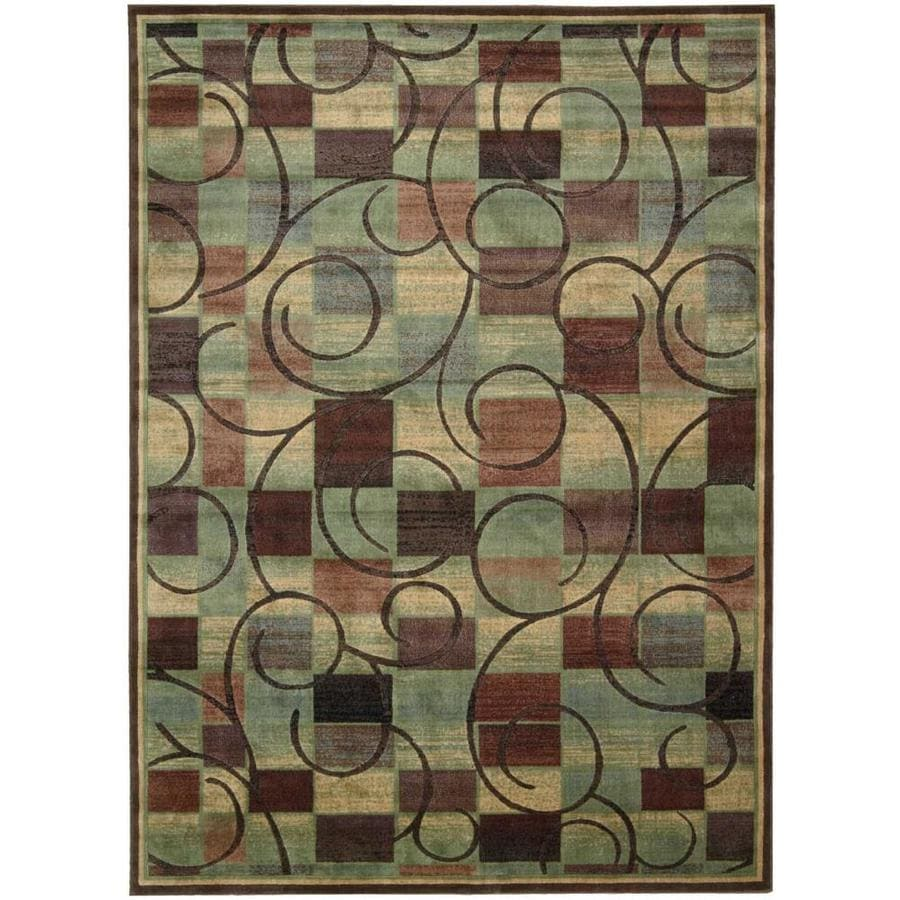 Nourison Expressions Brown Area Rug (Common: 9 x 13; Actual: 9.5-ft W x 13.5-ft L)